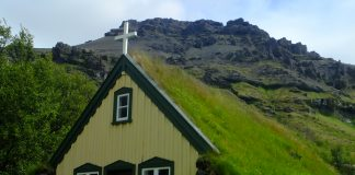 Roof insulation Iceland style